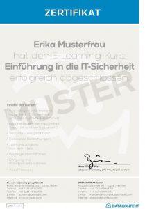 Beispielbild Zertifikat